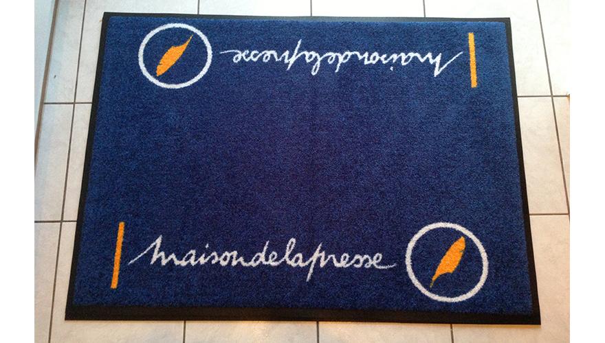 Tapis de sol personnalisé impression 2 couleurs